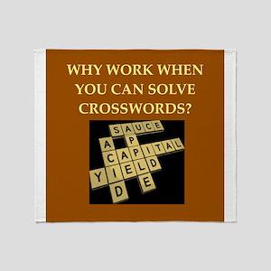 crosswords Throw Blanket