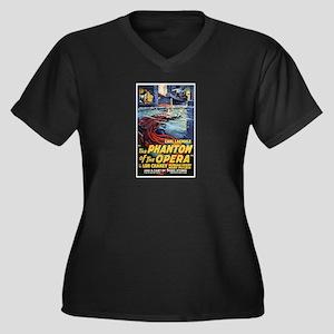 The Phantom Women's Plus Size V-Neck Dark T-Shirt