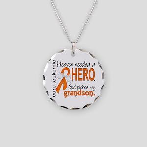 Leukemia Heaven Needed Hero Necklace Circle Charm