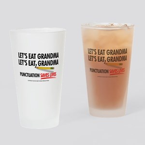 Punctuation Alternate Drinking Glass
