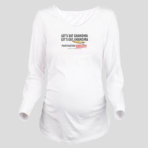 Punctuation Alternate Long Sleeve Maternity T-Shir