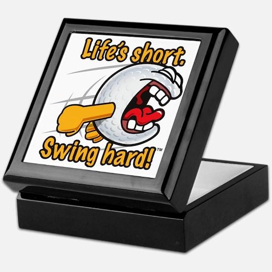 Life's Short. Swing Hard! Keepsake Box
