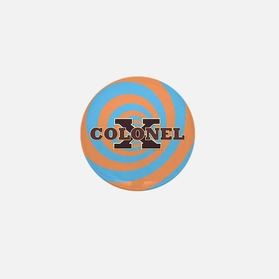 Colonel X Blue Mini Button