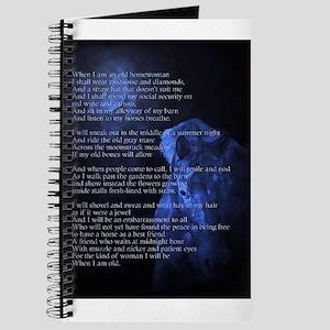 When Im an Old Horsewoman Journal
