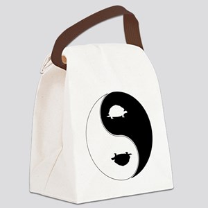 Yin Yang Turtle Symbol Canvas Lunch Bag