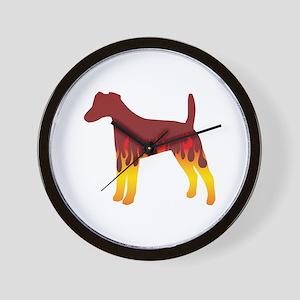 Foxie Flames Wall Clock