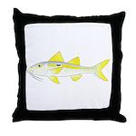 Yellowstripe Goatfish Throw Pillow