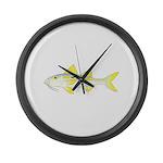 Yellowstripe Goatfish Large Wall Clock