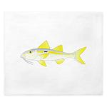 Yellowstripe Goatfish King Duvet