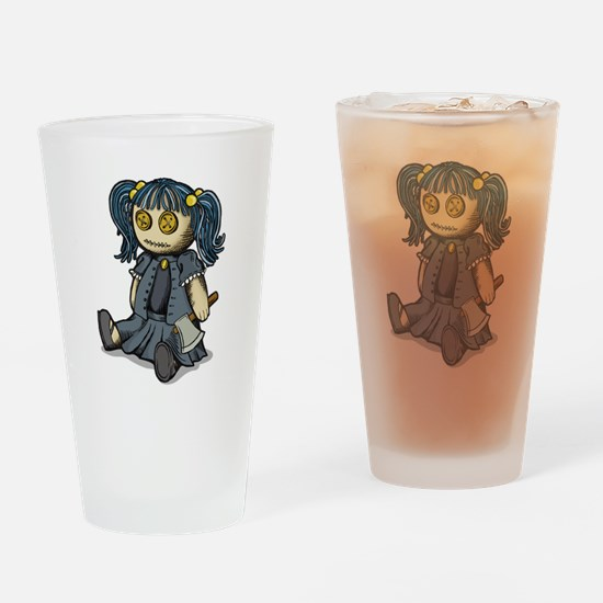 Lil Lizzie Button Eyes Drinking Glass