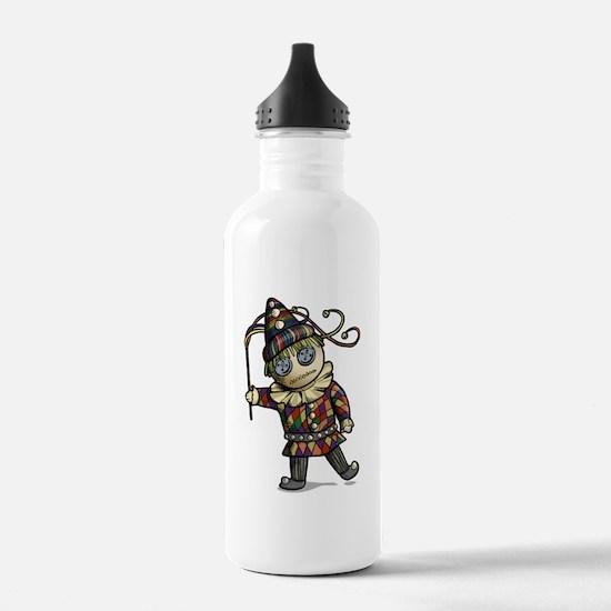 Harlequin Button Eyes Water Bottle