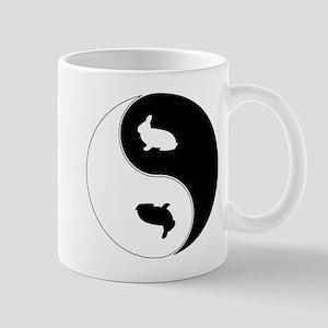 Yin Yang Rabbit Symbol Mug