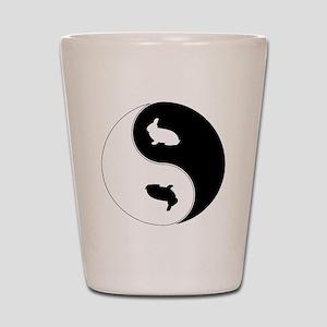 Yin Yang Rabbit Symbol Shot Glass