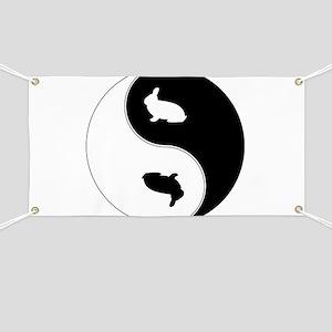 Yin Yang Rabbit Symbol Banner