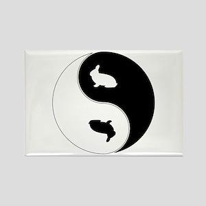 Yin Yang Rabbit Symbol Rectangle Magnet