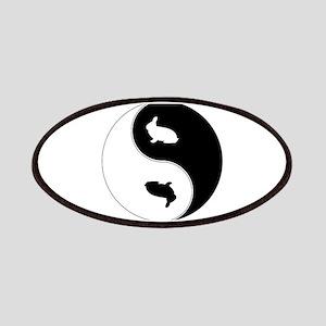 Yin Yang Rabbit Symbol Patches