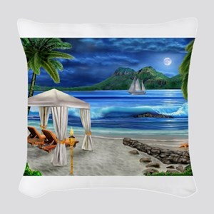 TROPICAL PARADISE Woven Throw Pillow
