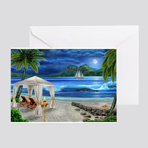 TROPICAL PARADISE Greeting Cards