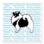 Keeshond Graphics Square Car Magnet 3