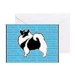 Keeshond Graphics Greeting Cards (Pk of 10)