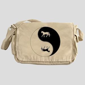 Yin Yang Horse Symbol Messenger Bag