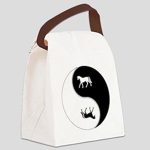 Yin Yang Horse Symbol Canvas Lunch Bag