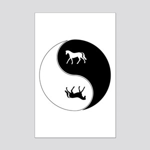 Yin Yang Horse Symbol Mini Poster Print