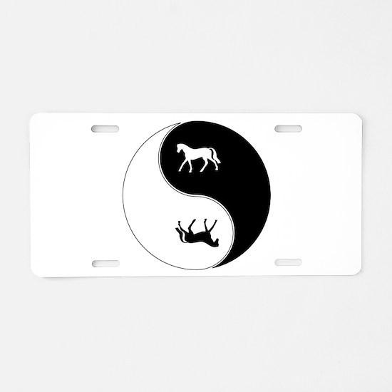 Yin Yang Horse Symbol Aluminum License Plate