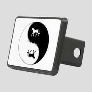 Yin Yang Horse Symbol Rectangular Hitch Cover