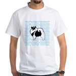 Keeshond Graphics White T-Shirt