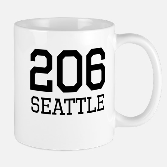 Seattle Area Code 206 Mugs