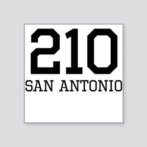 San Antonio Area Code 210 Sticker