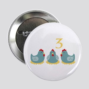 """Number Three 2.25"""" Button"""