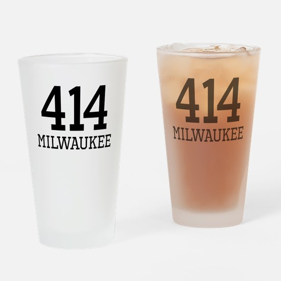 Milwaukee Area Code 414 Drinking Glass