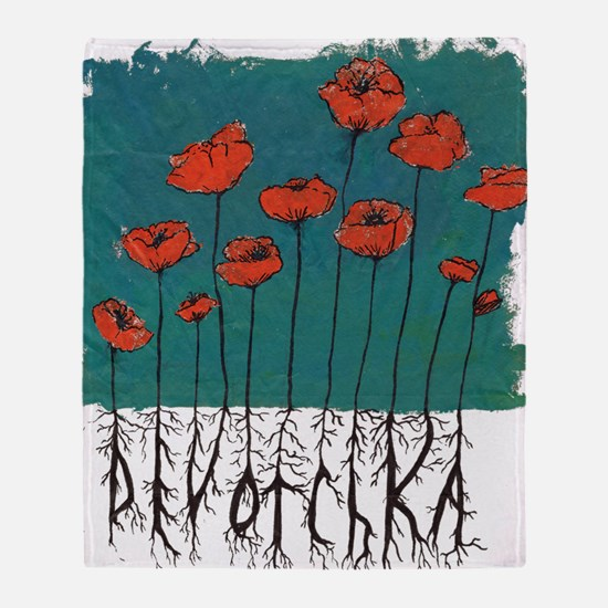 Devotchka Poppies Throw Blanket