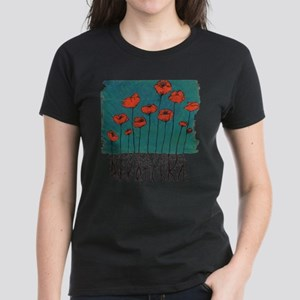 Devotchka Poppies Women's Dark T-Shirt
