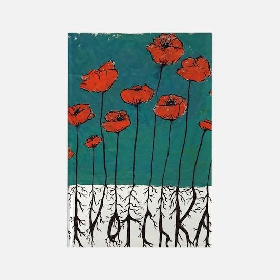 Devotchka Poppies Rectangle Magnet