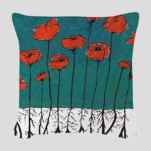 Devotchka Poppies Woven Throw Pillow