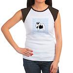 Keeshond Graphics Junior's Cap Sleeve T-Shirt