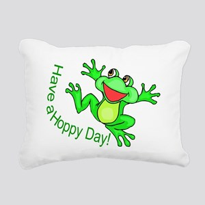 Hoppy Day Rectangular Canvas Pillow