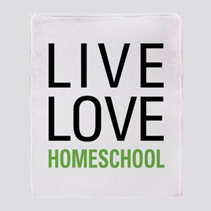 Live Love Homeschool Throw Blanket