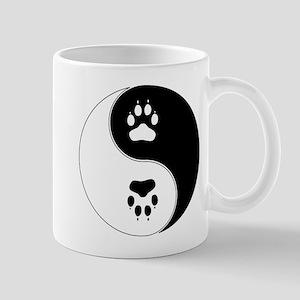 Yin Yang Paw Print Symbol Mug