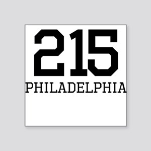 Philadelphia Area Code 215 Sticker
