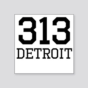 Detroit Area Code 313 Sticker