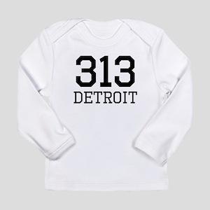 Detroit Area Code 313 Long Sleeve T-Shirt