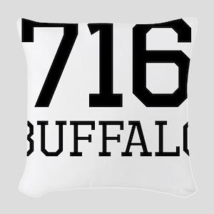 Buffalo Area Code 716 Woven Throw Pillow
