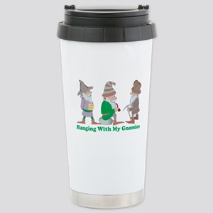 Hanging With My Gnomies Stainless Steel Travel Mug