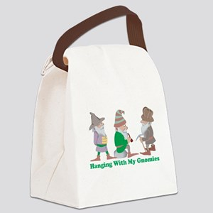 Hanging With My Gnomies Canvas Lunch Bag