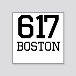 Boston Area Code 617 Sticker