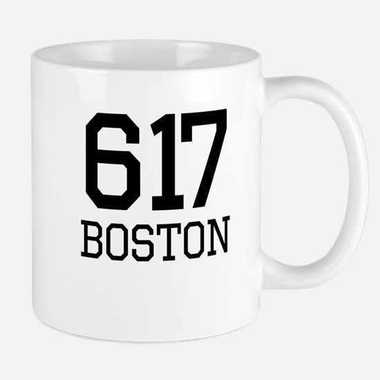 Boston Area Code 617 Mugs